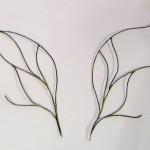 каркас для крылышка из фимо-геля